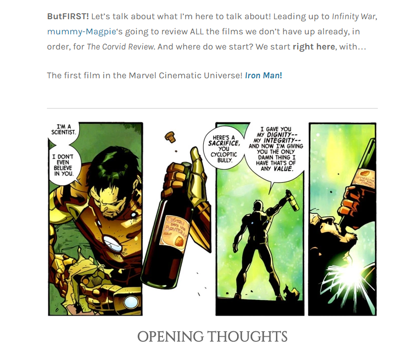TCR Iron Man intro