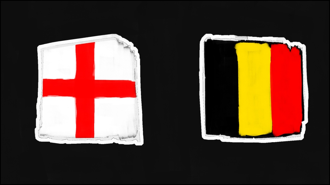 The Corvid Review World Cup 2018 Promo Flags England Belgium