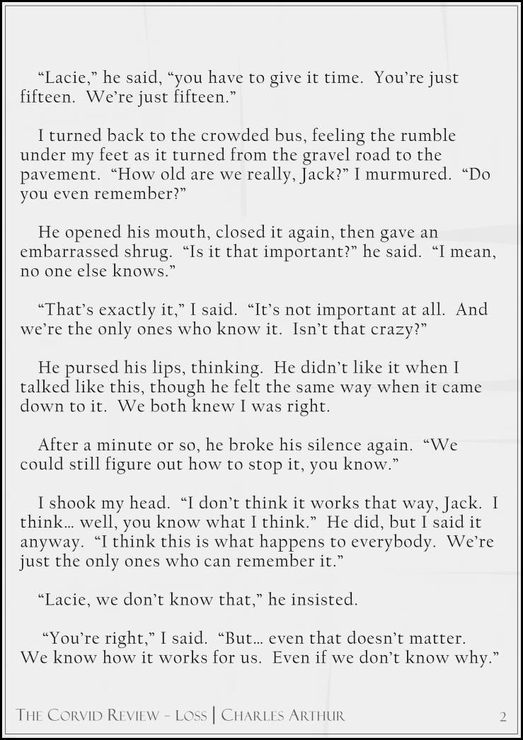 The Corvid Review - The Third Time Around - Short Story by Charles Arthur page2