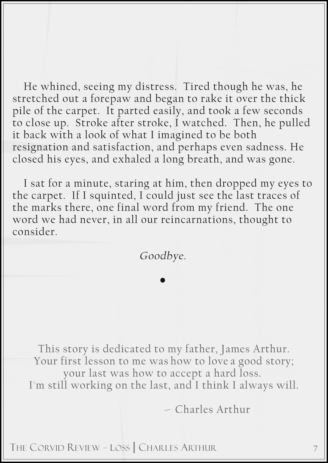 The Corvid Review - The Third Time Around - Short Story by Charles Arthur page7_1