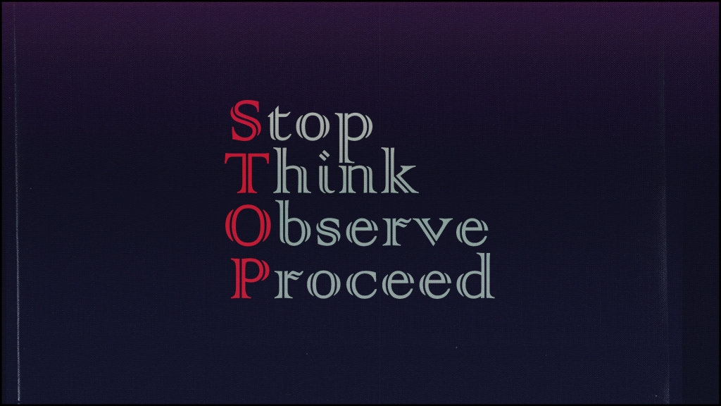 STOP: Stop Think Observe Proceed