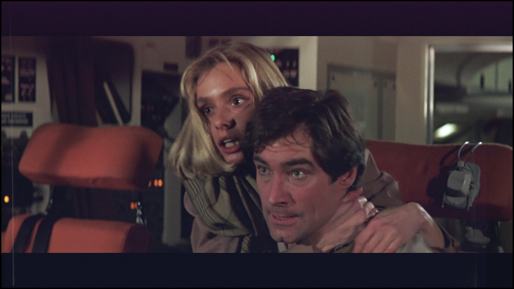 Timothy Dalton and Maryarm D'Abo in The Living Daylights